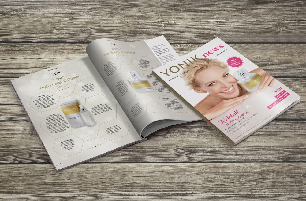 Broschüren Kunde beauty lumis GmbH | Medien Design Atelier München