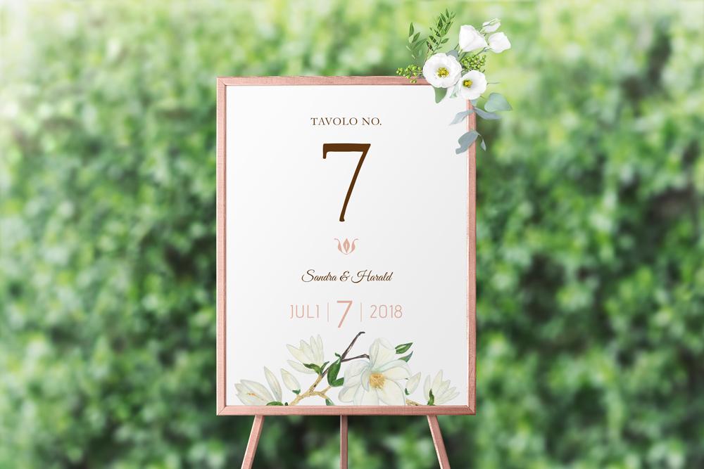 Hochzeit Floral | Tischnummer