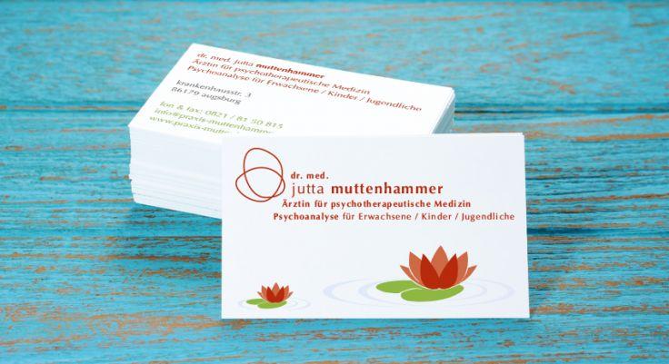 Visitenkarten Kunde Dr Med Jutta Muttenhammer Medien